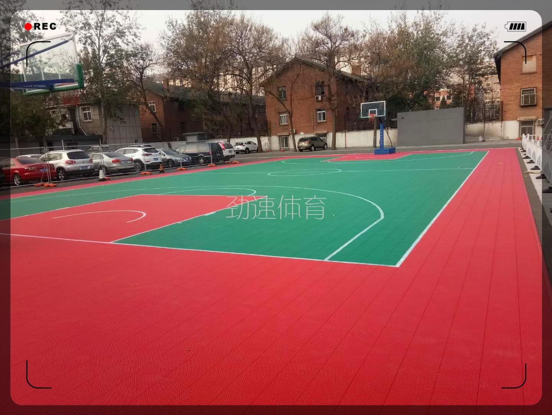 北京市陈经纶中学 悬浮地板(篮球场)